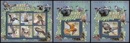 sl15003abc Sierra Leone 2015 Birds of Prey 3 s/s