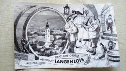 Austria  Langenlois  Weinstadt -blck Cat - Humour - Vine  Monkey -     D131225 - Langenlois