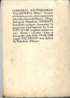 LIBERIA ANTIQVARIA  VLRICO HOEPLI  MILANO 1925  -  NOMBREUSES ILLUSTRATIONS - Livres Anciens
