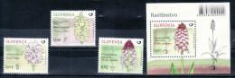 1085/ Slowenien Slovenia 2015 Mi.No. 1136 - 1139 ** MNH Block 80 Flora Flowers Blumen Monkey Orchid Burnt-tip Orchid - Orchidées