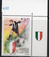 PIA - ITALIA - 2003 : Campionato Di Calcio. Scudetto Alla Juventus  - (SAS  2700) - Unused Stamps