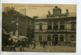 64 BAYONNE 1904 Petit Marché Place Saint Esprit Batiment Inscription Maritime  /D08-2015 - Bayonne