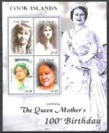 Cook-Inseln 2000 Geschichte Persönlichkeiten Herrscherhäuser Royals Königinmutter Elisabeth, Mi. 1499-2 ** - Cookinseln