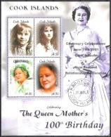 Cook-Inseln 2000 Geschichte Neuseeland Persönlichkeiten Herrscherhäuser Royals Königinmutter Elisabeth, Mi. 1499-2 ** - Cookinseln