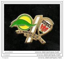 PIN´S FOOT FOOTBALL FCN NANTES ATLANTIQUE FCNA O GC NICE 02/12/1990 - Voetbal