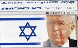 TELECARTE MAGNETIQUE  ISRAEL 50 Units   Yitzhak Rabin  *****5 - Israel