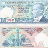 Turkey #195, 500 Lira, L.1970 (1984), UNC - Türkei