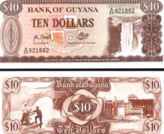 Guyana #23f, 10 Dollars, ND (1966-), UNC / NEUF - Guyana