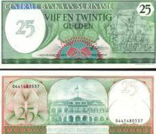 Suriname #127b, 25 Gulden, 1985, UNC / NEUF - Suriname