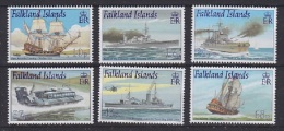 Falkland Islands 2001 Royal Navy Ships 6v ** Mnh (22534) - Falklandeilanden