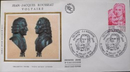 ENVELOPPE 1er JOUR 1978 - Jean-Jacques ROUSSEAU & VOLTAIRE - Montmorency Le 01.07.1978 - En Parfait état - - FDC