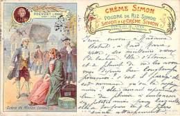 Publicité - Crème Simon, Poudre De Riz Simon, Savon à La Crème Simon - Publicité