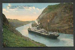 CPA - Vessel Passing The Cucarache Slide In Culebra Cut, Panama Canal - Panama