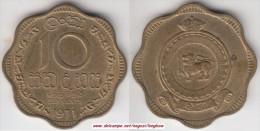 Ceylon 10 Cents 1971 Km#131 - Used - Sri Lanka