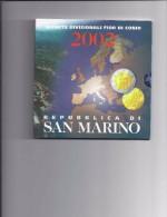 SAN MARINO EUROMUNTEN BU-set 2002 -  1ste Officiële Uitgave - VOLLEDIGE REEKS - San Marino