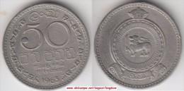 Ceylon 50 Cents 1963 Km#132 - Used - Sri Lanka