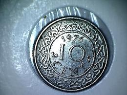 Suriname 10 Cent 1976 - Surinam 1975 - ...
