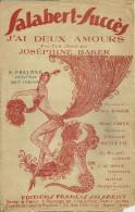 JOSEPHINE BAKER PARTITION DE MUSIQUE FOX TROT  30 CLARENSAC ILLUSTRATEUR DANSE REVUE ARTISTE - Musique & Instruments
