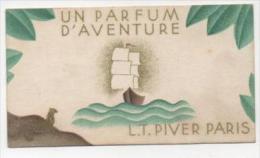 Carte Parfumée Un Parfum D'aventure  L.T. PIVER Au Verso Calendrier De 1937 - Vintage (until 1960)
