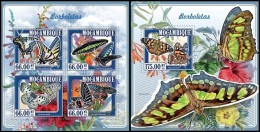 m15109ab Mozambique 2015 Butterflies 2 s/s