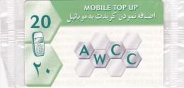 TELECARTE AFGHANISTAN  20 Unit Sous Blister AWCC @ RARE !!! - Afghanistan