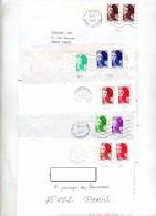Lot 11 Lettres Affranchies Liberte Divers Flamme Cachet - Marcophilie (Lettres)