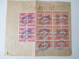 China Shanghai 1949 Beleg / Rechnung / Receipt. Hongkew Wharf Campany. 214 Bales Cotton. Frederick Lykes. - 1912-1949 Republik