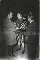RARO  Foto Postius Photo Originale 1954 Enrique Guitart Y Gustavo Ré Acteurs Barcelona Barcelone Dos Scanné - Berühmtheiten