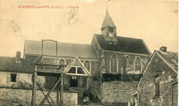 CPA 95 MONTREUIL SUR EPTE L EGLISE 1915 - Other Municipalities