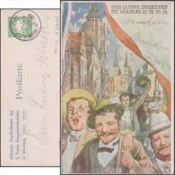 Bavière 1904. Entier Postal TSC. 10ième Fête Franconnienne De La Chanson à Würzburg. Parade, Cathédrale Romane - Music