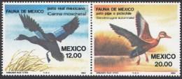 2 Timbres Du Mexique 1984, Se Tenant,  '   YT 1041 + 1042   Neufs **  ´   12 P. + 20 P.  Canards