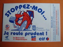 Autocollant- Sticker,Prévention Routière -  Stoppez-Moi ,je Roule Prudent,  Jeux De 1996  ELF  (014) - Stickers