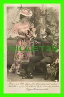 COUPLES - MAIS C'EST ELLE DÉJÀ,. CES DOUX PAS ENTENDUS... - CIRCULÉE EN 1908 - - Couples