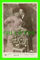 COUPLES - CE BAISER VOUS LIE POUR TOUJOURS - C. L. - GROS BOUQUET DE ROSES - ÉCRITE - - Couples