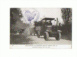 CPA MILITARIA Tracteur Panhard Pour Piece De 90 Avec Cachet Commune D'Oderen Alsace - Materiaal