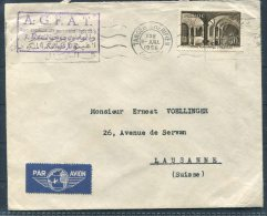 1956 Maroc A.G.F.A.T. Tanger Airmail Cover - Lusanne, Switzerland - Morocco (1891-1956)