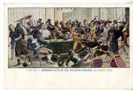 ARRESTATION DE ROBESPIERRE   -  PUB  AU DOS CHAUSSURES EN TOUS GENRES M PERIAL PARIS - Geschiedenis