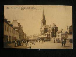 X-n°121 / Ham Sur Heure Nalinnes La Grand ' Place Et L´Eglise Défilé De La Marche Saint-Roch / Circulé En 1935 - Ham-sur-Heure-Nalinnes