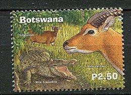 (cl 10 - P57) Botswana ** N° 850 (ref. Michel Au Dos) - Crocodile, Sitatunga Et Cobe  - - Botswana (1966-...)