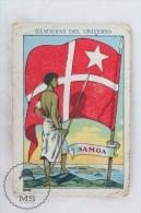 Rare 1900´s Trading Card/ Chromo - WWI Samoa Flag & Military Uniform - Chocolat