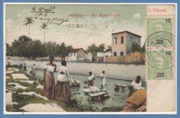 AFRIQUE - SAO THOME Et Principe - Lavadeiras No Rio Agua Grande - Sao Tome Et Principe