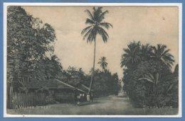 AFRIQUE - SIERRA LEONE --  A Village Street - Sierra Leone