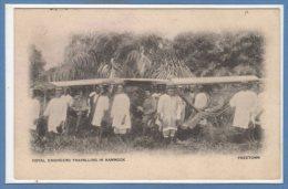 AFRIQUE - SIERRA LEONE --  Royal Engineers Travelling In Hammock - Sierra Leone