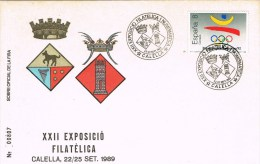 13363. Carta Exposicin CALELLA (Barcelona) 1989. Exposicion FERIA, Escudo Municipal - 1931-Hoy: 2ª República - ... Juan Carlos I