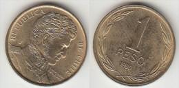 Cile 1 Peso 1990 Km#216.2 - Used - Cile