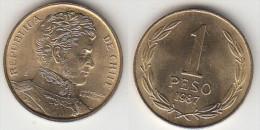 Cile 1 Peso 1987 Km#216.1 - Used - Cile
