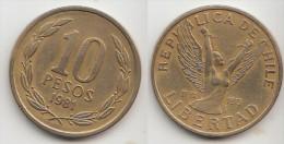 Cile 10 Pesos 1981 Km#218.1 - Used - Cile