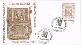 13367. Carta Exposicin CALELLA (Barcelona) 1980. Arte Renacentista Calella - 1931-Hoy: 2ª República - ... Juan Carlos I