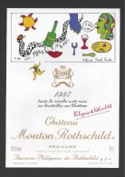 Etiquette De Vin  -  Chateau Mouton Rothschild  -  Pauillac  - 1997  - 1 Er Grand Cru Classé  -  15 L  -  17  X 24.5 Cm - Bordeaux