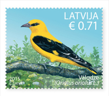 Latvia.2015 Latvian Bird - European Golden Plover Eurasian Golden Oriole 2 Stamps  MNH - Latvia